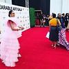 Demetria McKinney arrives at the WACO Theater Center's 3rd Annual Wearable Art Gala at The Barker Hangar at Santa Monica Airport on June 1, 2019
