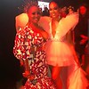 Lalah Hathaway and Demetria McKinney arrives at the WACO Theater Center's 3rd Annual Wearable Art Gala at The Barker Hangar at Santa Monica Airport on June 1, 2019