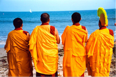Tibetan monks in Santa Barbara