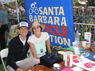 Dave & Fran tabling for the biking community