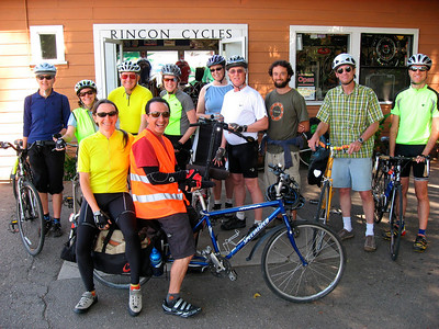 A group of bikers met at Rincon Cycles in Carpinteria at 10:00AM and had a fun ride to Earth Day