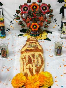 Pan de los Muertos, candles, marigolds...