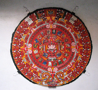 Aztec calendar at Casa de la Raza.  For more info: http://www.azteccalendar.com/azteccalendar.html
