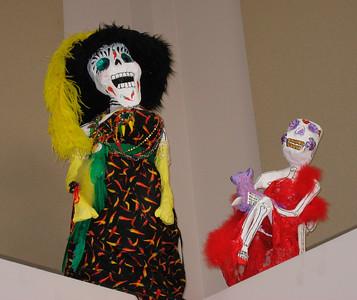 Library at SB City College: exhibit for Dias de los Muertos (November 1, 2008)
