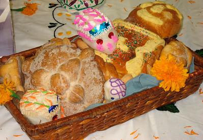 Traditional breads (pan de los muertos) & sugar skulls (SB City College)
