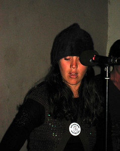 Eco (Ginger Ninjas) wearing her button:  Men like Dick need more love  http://www.myspace.com/gingermyninja  http://pleasantrevolution.net/