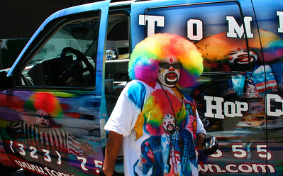 Tommy the Clown in front of his truck