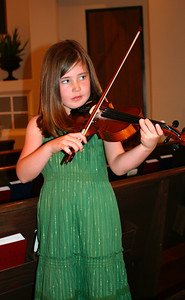 Ella is practicing