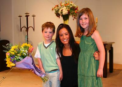 Owen, Ella & their teacher Cory