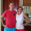 Me and Christine Johnston at their home in Palm Beach Gardens, FL.