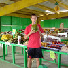 We stopped at one more road side produce stand on our way to the next farm.  This was a very nice market which had a wide variety of produce, although none of it was organic, most of it was local.  Above I am enjoying some delicious coconut water.