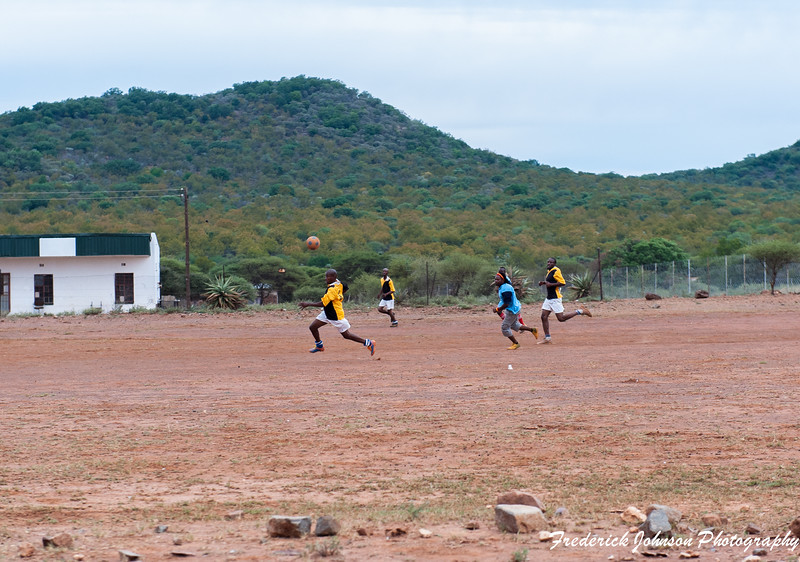 Kids Playing Soccer, South Africa