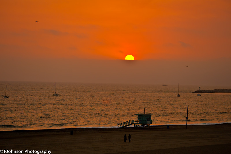 Sunset at Dockweiler