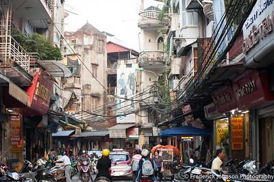 Busy streets of Hanoi, Vietnam