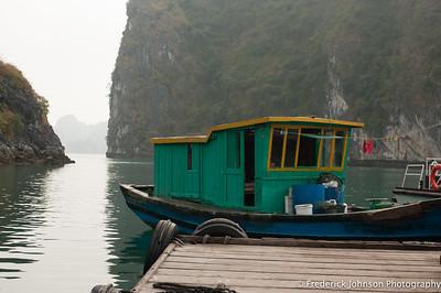 Boathouse, Halong Bay, Vietnam