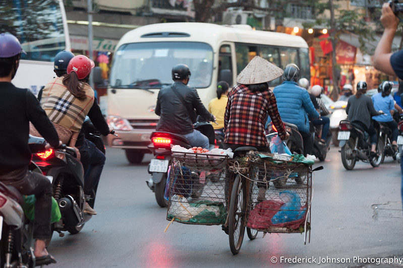 Morning traffic in Hanoi, Vietnam