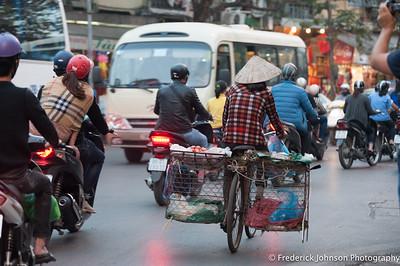 Morning traffic in Hanoi, Vietnam