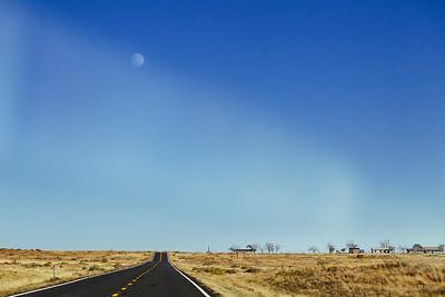 Moon over Hopi Reservation, 2013
