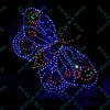 To celebrate the season, the St. Louis Zoo lights up different areas of the zoo giving visitors a chance to enjoy wonderful lighted displays such as this butterfly.