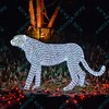 To celebrate the season, a cheetah made out of lights at the St. Louis Zoo gives visitors a chance to enjoy wonderful lighted displays with an animal theme.