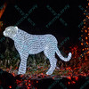 A cheetah made up of lights is on display at the St. Louis Zoo during the night hours as the zoo celebrates the Christmas Season by decorating the park with animal themed lights.