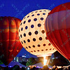 A Hot air balloon representing a golf ball lights up the night sky in the popular event held at Forest Park in St. Louis, MO on 9/19/14