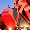 Bethesda Hospital Hot air balloon is joined by others to light up the night sky in the popular event held at Forest Park in St. Louis, MO on 9/19/14