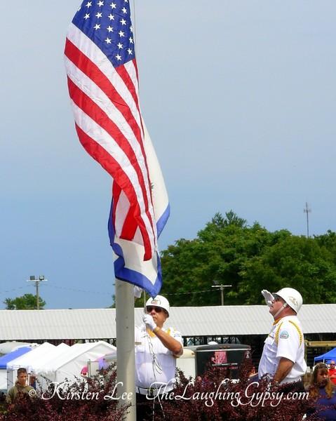 Raising Old Glory Jefferson County fair west virginia wv