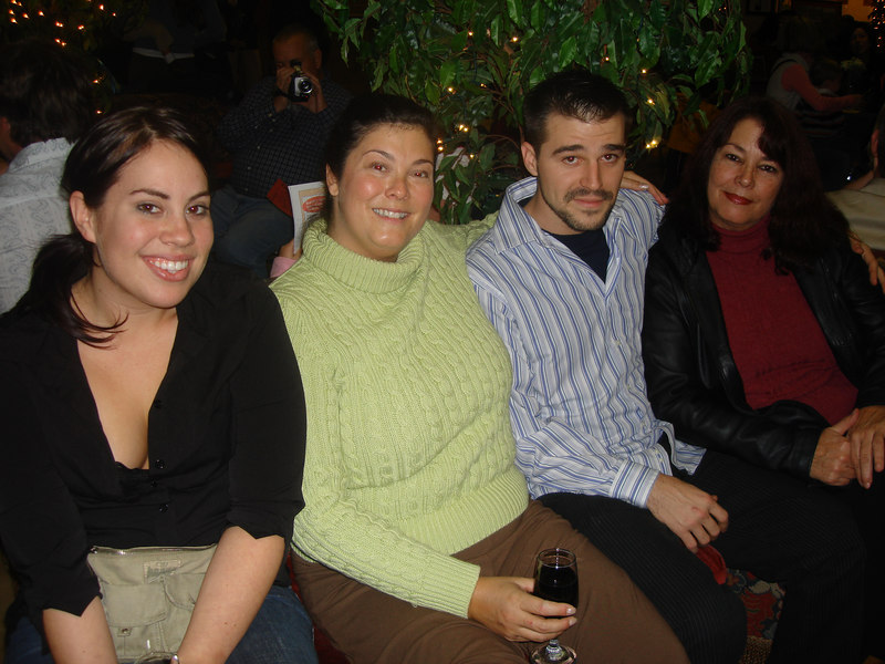 Marie, my sister Kelle, brother Michael and my mom, Royce.