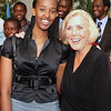 20090229 Civil Forum on Reconciliation with President Paul Kagame of the Republic of Rwanda and Yale Professor Miroslav Volf in the Saddleback Church Worship Center on September 25, 2009: Beverly Sallee, VIP player in PEACE Plan in India, with Ange Kagame, daughter of President Paul Kagame
