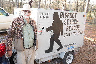 Roger Paltridge from florida with his Bigfoot research trailer.