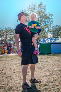 """Things Zoe says, part whatever (Colorado Irish Festival edition): """"Daddy, look! We match! We're both wearing a tutu!"""""""