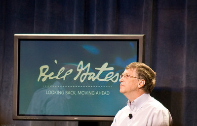 Bill Gates pondering the future