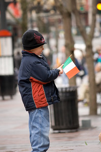 Kid with Irish flag
