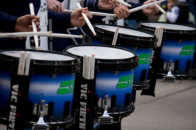 Drummers in a row