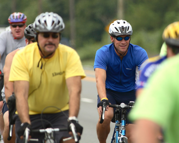 Hey Ryan, You see dat guy? Who does he think he is with the carbon fiber race bike.  This is a charity run