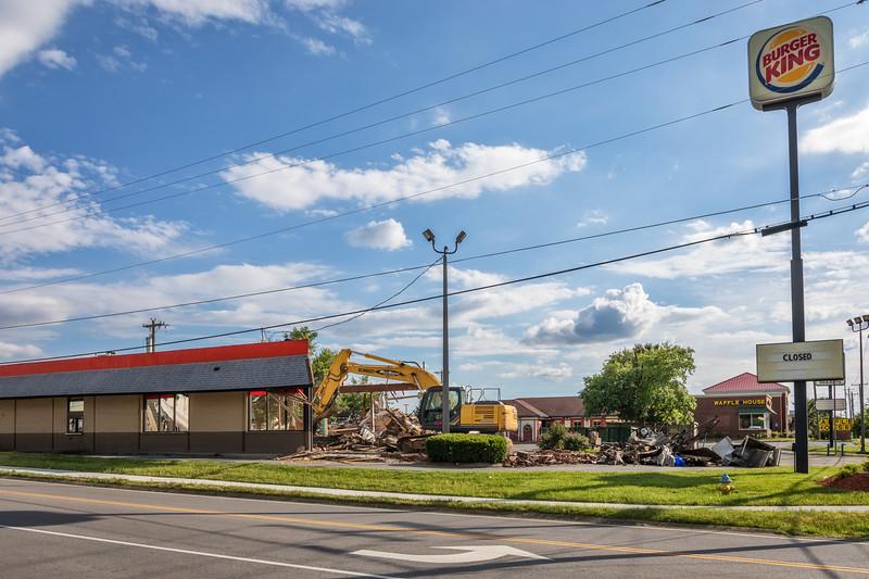 Hendersonville Burger King Demolition - May 23, 2017
