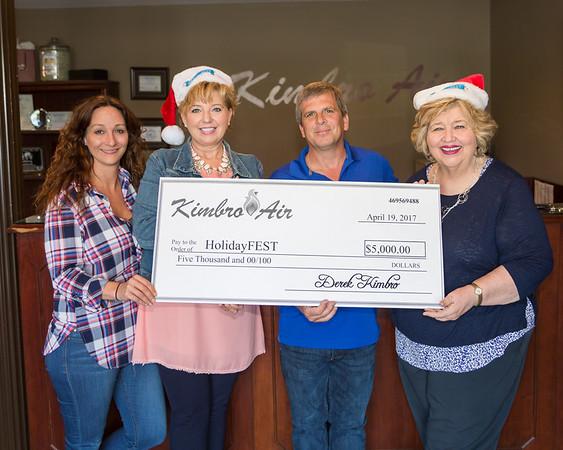 Kimbro Air HolidayFest Donation - April 19, 2017