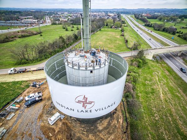 Stop 30 Water Tower Tank Raising - April 6, 2018