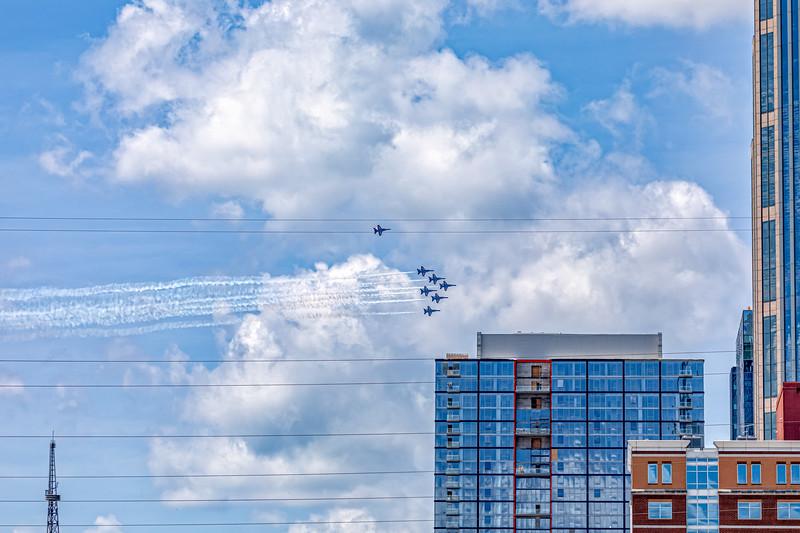 Blue Angels Flyover in Nashville - May 14, 2020