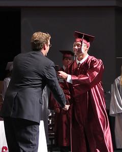 Devin Nichols receives his treasure from Mr. Crook