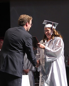 Ashley Payne is awarded her diploma