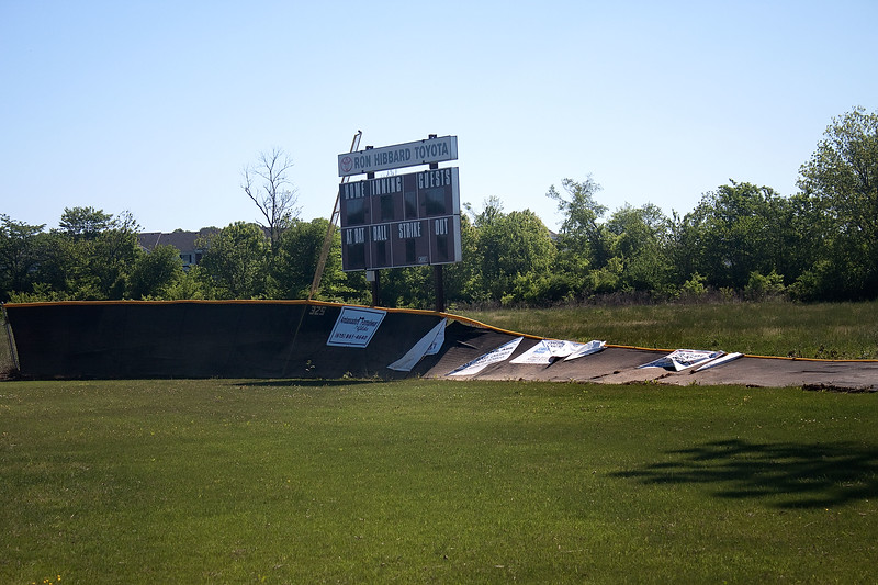 Post Flood Damage - SCHS Baseball Field and Hendersonville Inline Hockey Rinks - May 8, 2010