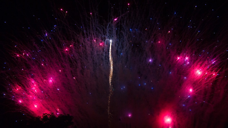 Fireworks - Hendersonville Freedom Festival - July 3, 2012