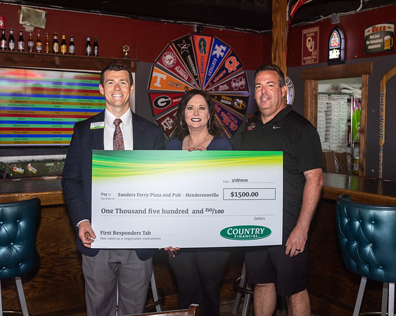 Country Financial Check Award to Sanders Ferry Pizza - May 29, 2020