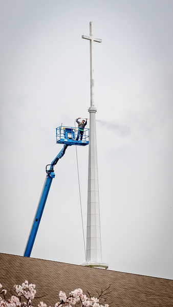 First Baptist Church Steeple Cleaning - March 27, 2020