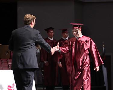 Matt Murray prepares to shake Mr. Crook's hand