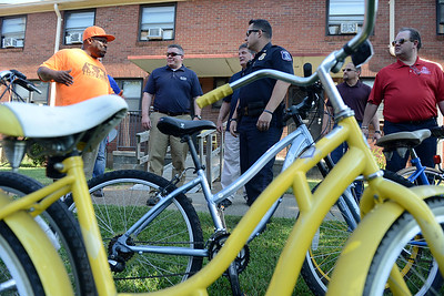Belmont Police donate bikes to Edgehill Community