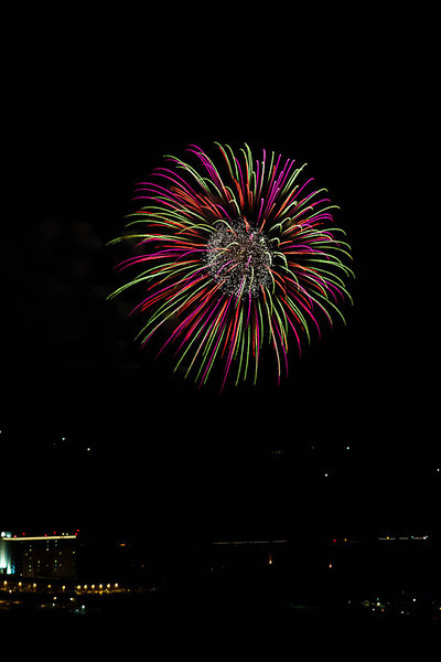 Wildhorse Casino fireworks display 2013