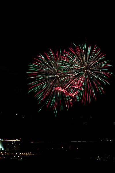 Wildhorse Casino fireworks display 2013